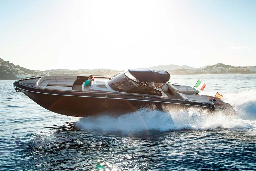 Motor boat CNM Continental 50 for rent with crew in Ibiza