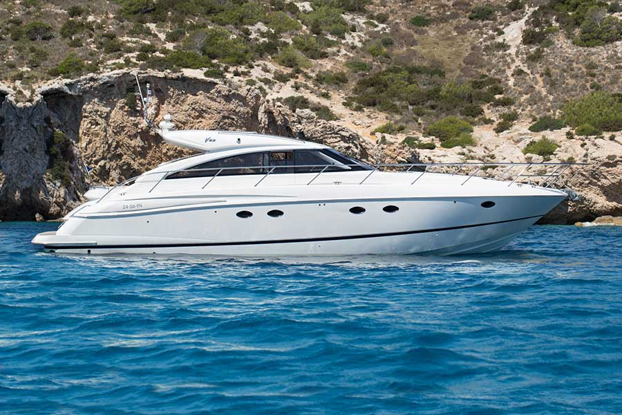 Open Motor Yacht Princess V53 for rent, 11 guests, 2 crew, Ibiza